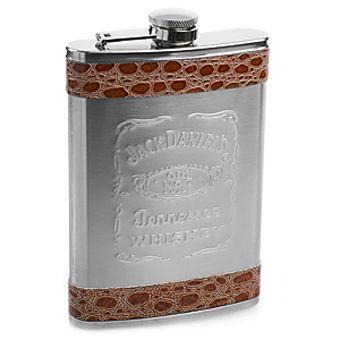 """Фляжка """"Jack Daniels"""" стальная + кожзам 270 мл"""