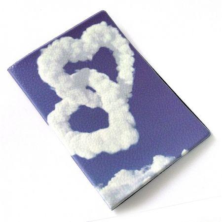 """Обложка на паспорт """"Сердца из облаков"""""""
