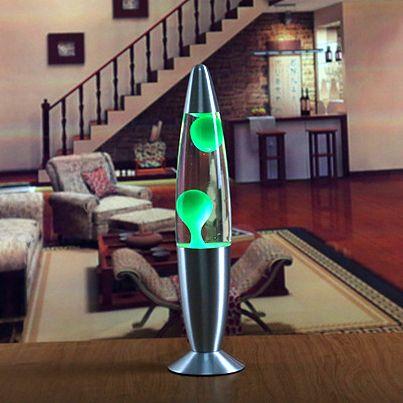 Лава лампа - релаксант Зеленая (Lava lamp) 220V