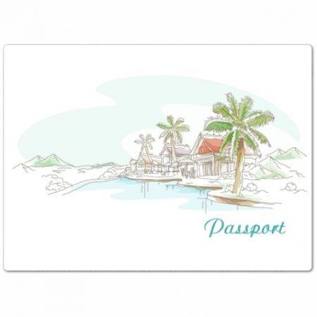 """Обложка для паспорта """"Пальмы"""""""