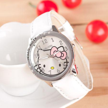 """Часы """"Hello Kitty"""" наручные белые"""