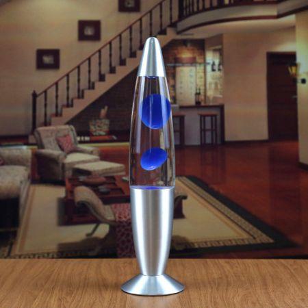 Лава лампа - релаксант Синяя (Lava lamp) 220V