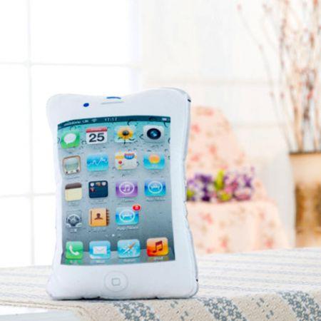 Подушка телефон в виде iPhone белая