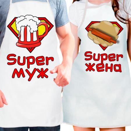 """Фартуки парные """"Супер пара"""""""