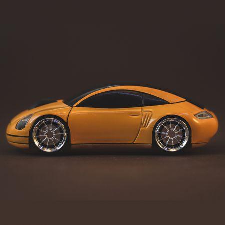 Мышь беспроводная «Porsche 911» оптическая желтая машинка