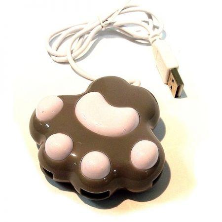 Разветвитель HUB собачья лапка серо-белый