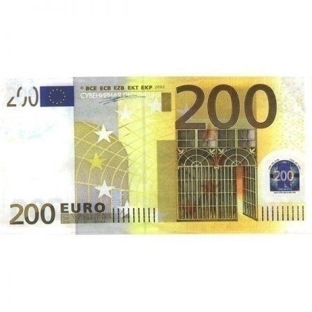 Наклейка 200 евро 20шт в упаковке